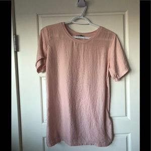 Zara blush pink silky in the front and cotton back